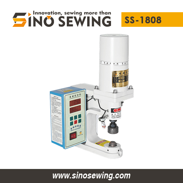 Electromagnetic Snap Button Attaching Machine (Infrared Sensor) (SS-1808), Fastener Attaching Machine with Stepless Pressure Regulation