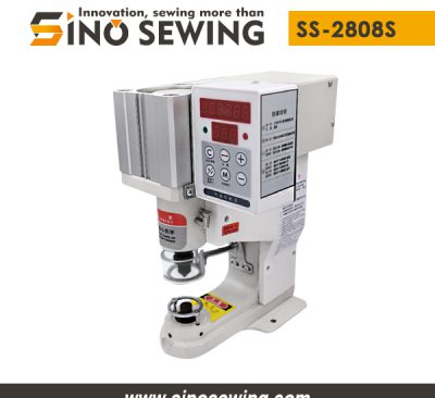 Pneumatic Snap Button Attaching Machine (Laser Positioning) (SS-2808S), Fastener Attaching Machine with Control Panel and Safety Guard Ring