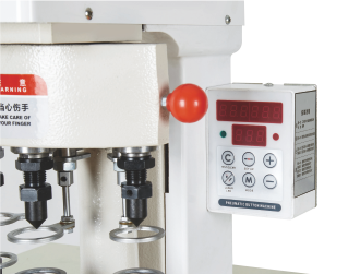 Three-station Pneumatic Fastener Attaching Machine (SS-3808) with Intelligent counter