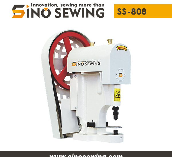 Snap Button Attaching Machine with Belt Drive (SS-808), Low Price Fastener Attaching Machine