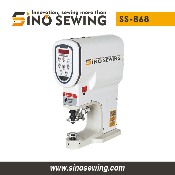Servo Snap Button Attaching Machine (SS-868) for Metal Buckle, Automatic Snap Button Attaching Machine Manufacturer