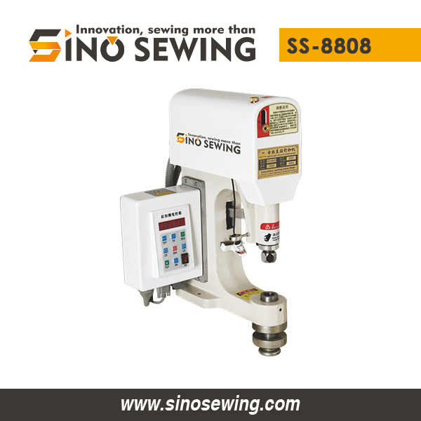 Computerized Direct Drive Snap Button Attaching Machine (with Infrared Sensor) (SS-8808), Fastener Attaching Machine Exporter
